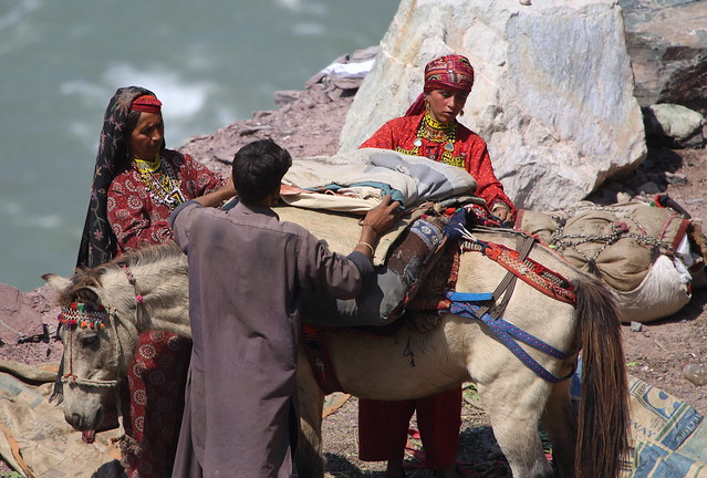 Nomads preparing to move on, Neelum River, Kashmir