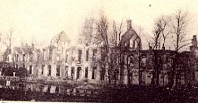 Hooge Chateau – after a few months of bombardment