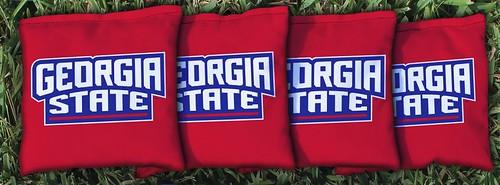 GEORGIA STATE UNIVERSITY PANTHERS RED CORNHOLE BAGS