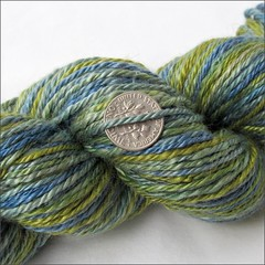 Seaglass handspun, close up