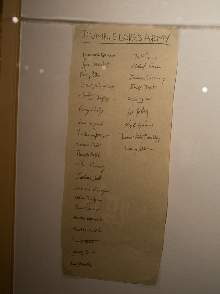 List of the members of dumbledore s army