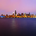Chicago Glowing Pink by AJ Brustein