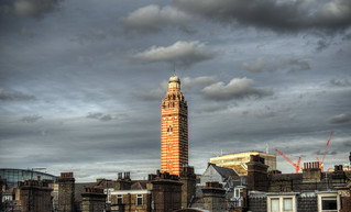 Tower of the Westminster Cathedral, at dawn