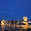 Chain Bridge over the blue Danube