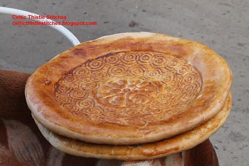 Stamped bread Samarkand market