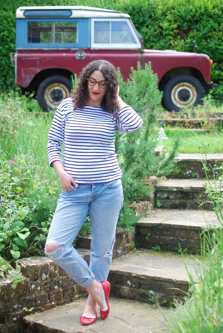 chambray and curls striped mariniere