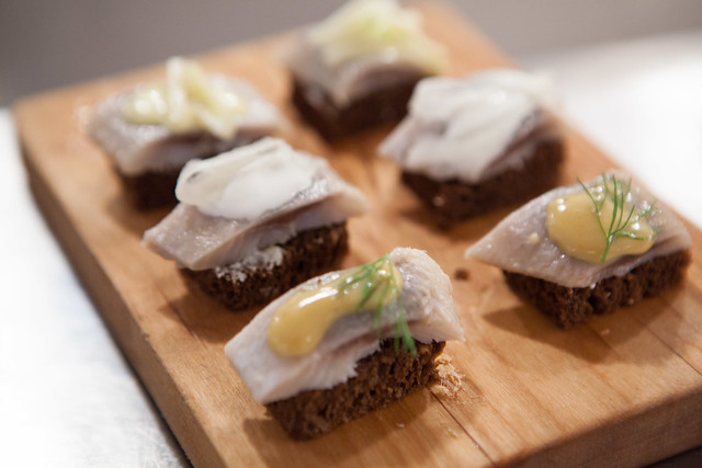 Pickled herring trio