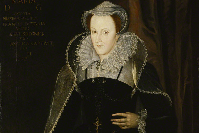 Mary Stuart, Queen of Scots (1542–87) after Nicholas Hilliard, oil on panel, late 16th century or early 17th century (1578?) NPG 429 © National Portrait Gallery, London