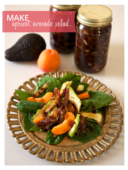 Apricot and Avocado Spinach Salad