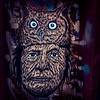 Totem #NativeAmerican #owl #wheatpaste #graffiti #StreetArt #UrbanArt #Williamsburg #Brooklyn #NYC