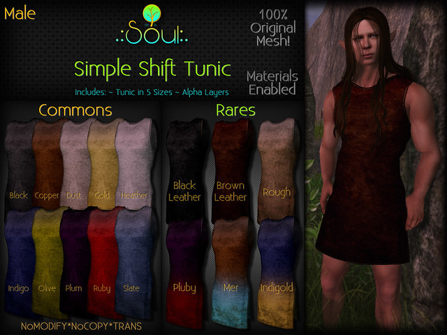 2014 Simple Shift Tunic Gatcha Male