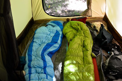 Sleeping Quarters in LL Bean King Pine 4 Tent