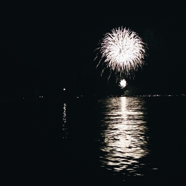 Over the lake firework show. Lovely.