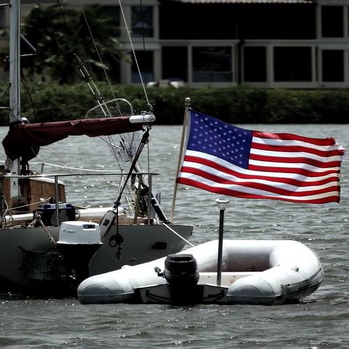 usa america bay boat wind flag windy pride naples nautical skiff redwhiteandblue starsandstripes naplesbay