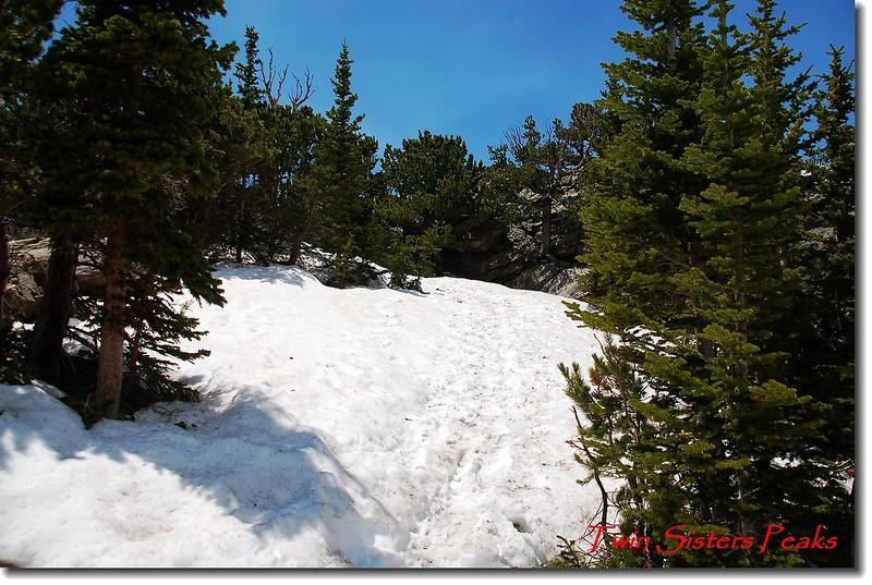 積雪未融的Twin Sisters Peaks 登山步道 2