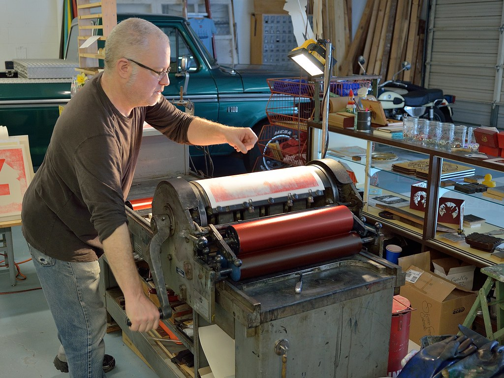 Griffin Norman at Isle of Printing