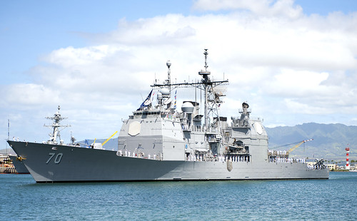 PEARL HARBOR (NNS) -- The Hawaii-based Ticonderoga-class guided-missile cruiser USS Lake Erie (CG 70) returned from a four-month deployment to the Western Pacific.