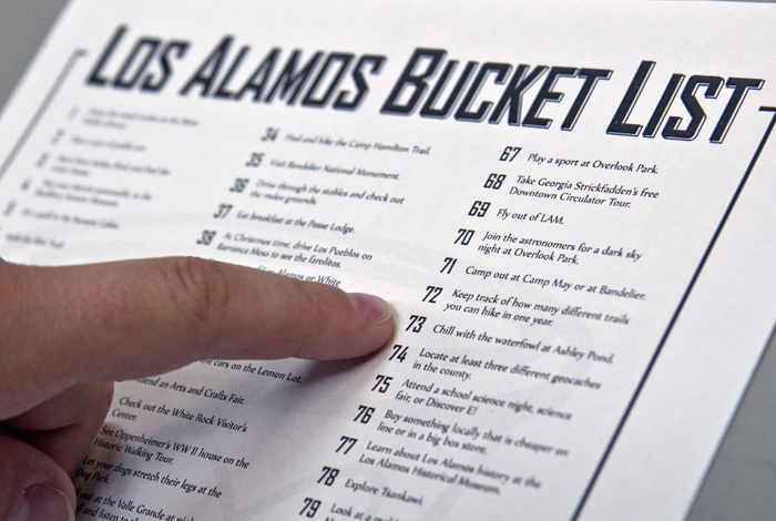 The Los Alamos Bucket List captures 100 things to do in and near Los Alamos.