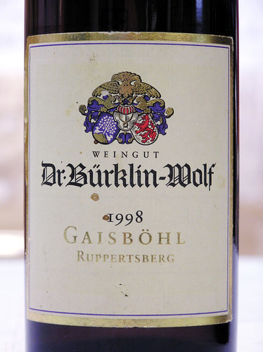 Weingut Dr. Burklin-Wolf 1998 Gaibohl Ruppertsberg Riesling Spatlese Trocken Pfalz