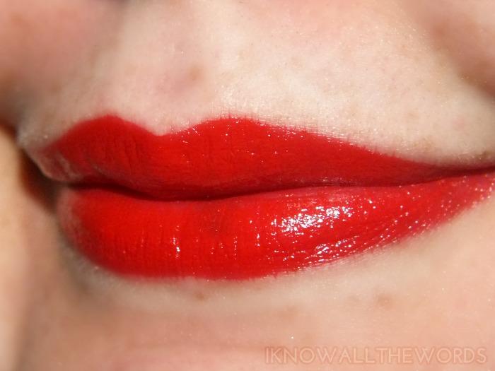 rimmel moisture renew lipstick- 505 Red Alert