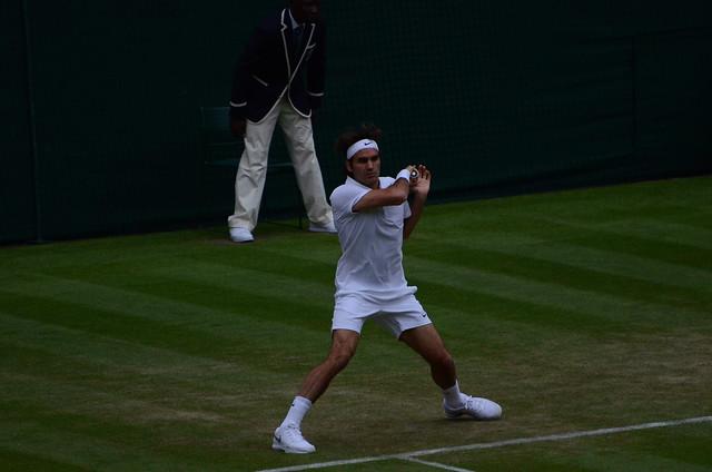 Federer forehand slide