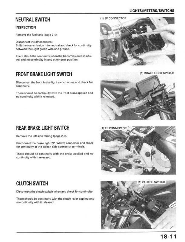 Won T Start Neutral Safety Bypass Honda Motorcycles Fireblades Org