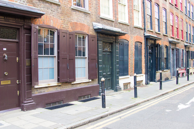 old weaving district in Spitalfields