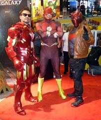 Iron Man, Flash and Red Hood