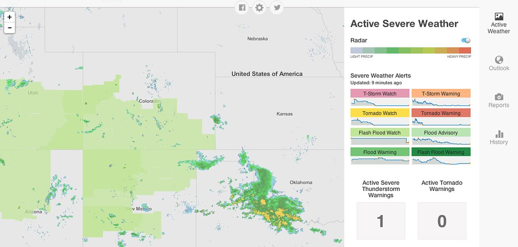 Flash Flood Watch Map | Mesomap