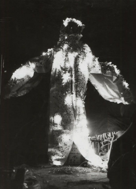 One of a series of Atsuko Tanaka's Electric Dress, 1957 © Ryoji Ito. Photo © the former members of the Gutai Art Association