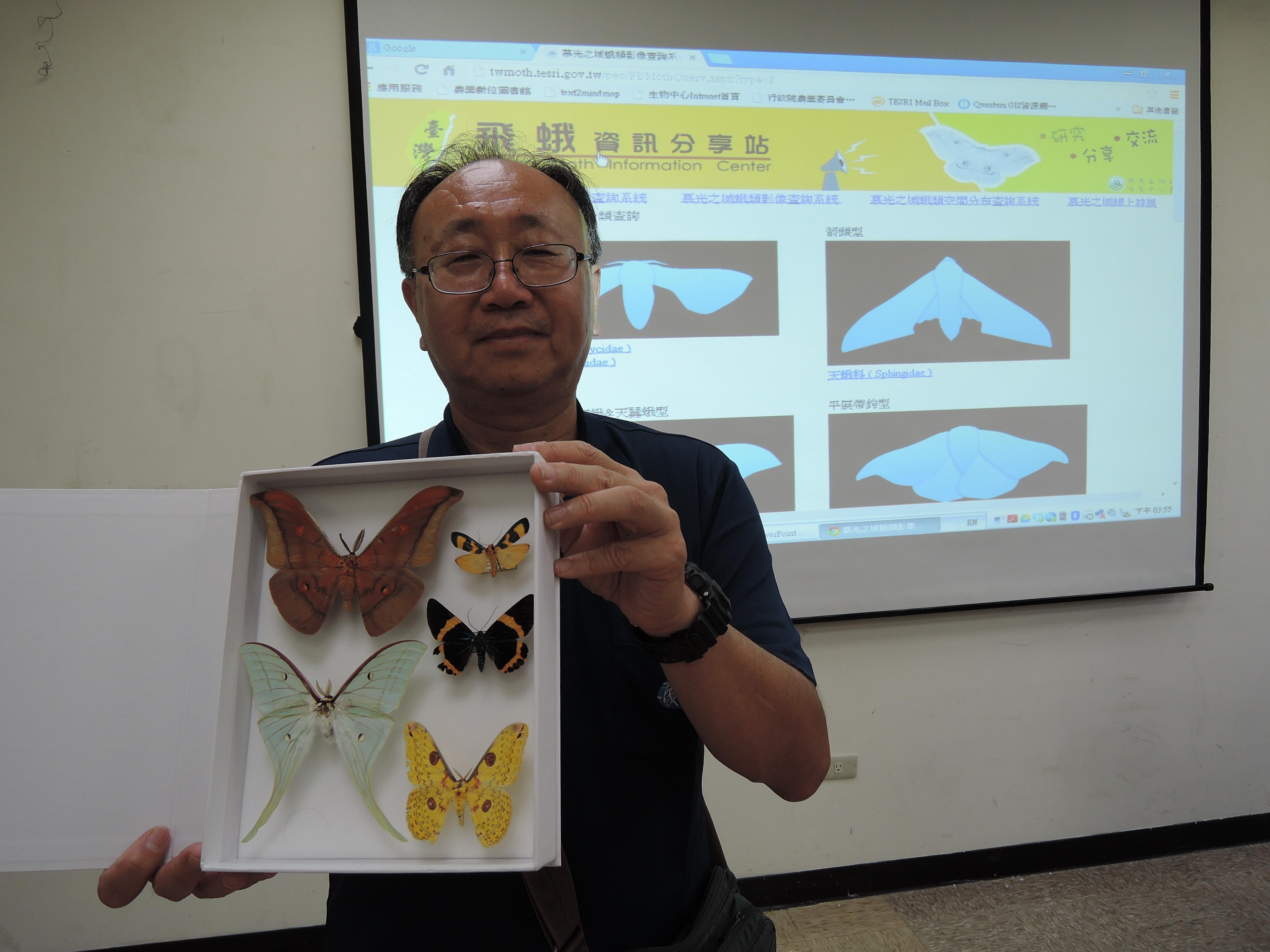 林旭宏標本展示。