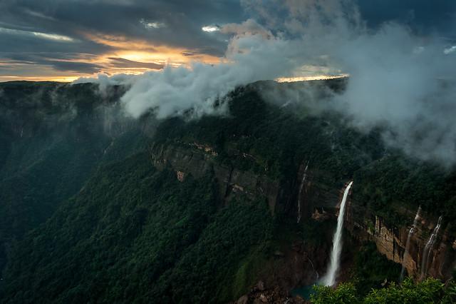 Nokhalikai Falls - Golden Hour 2