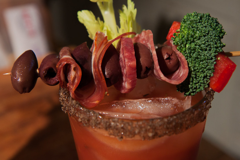 Bloody Mary, extreme garnish