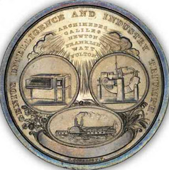 New England Society For Promotion of Manufactures And Mechanic Arts medal reverse