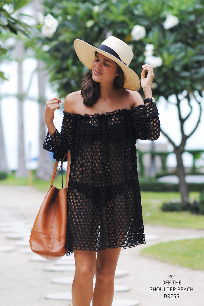 Make a simple off the shoulder beach dress www.apairandasparediy.com