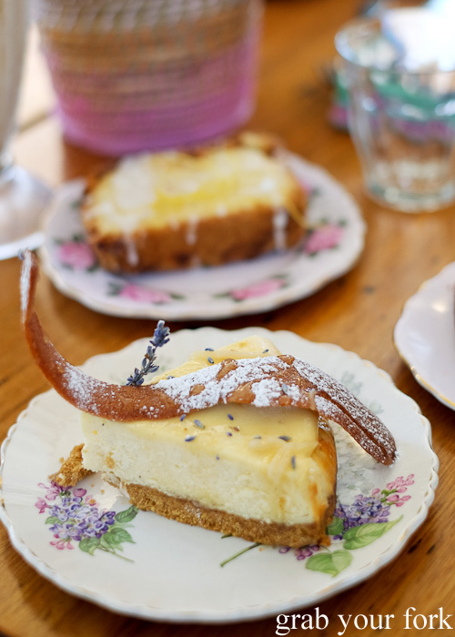 Cheesecake with lavender and honey at The Pig and Pastry, Petersham