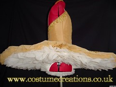 Hand pleated ivory underskirts