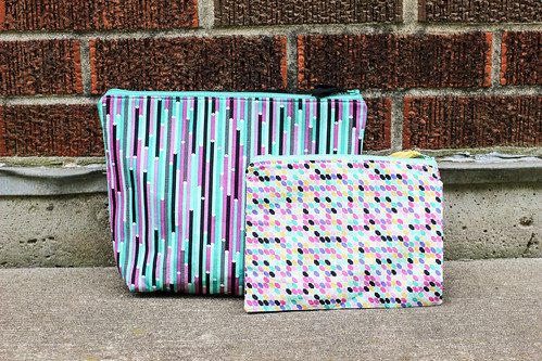 Geometric Bliss Triplizip Zipper Pouches