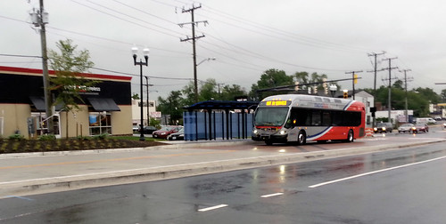 Photo: An actual bus running in the Route 1 transitway