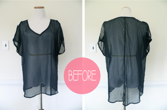 Simple Shirt Refashion before