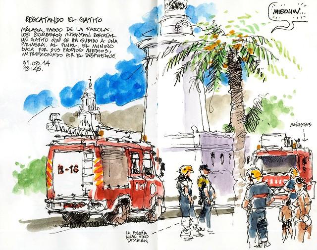 Málaga, rescuing the kitten