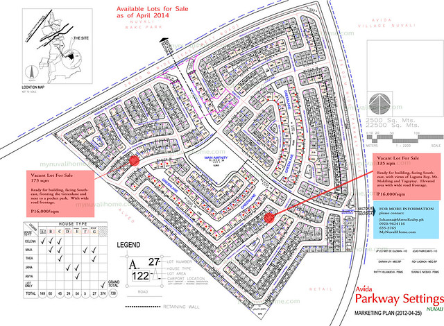 Avida Parkway Settings Nuvali lots for sale