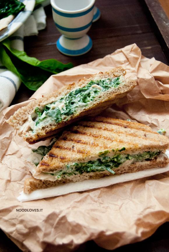 Sandwich al pollo con spinaci 4