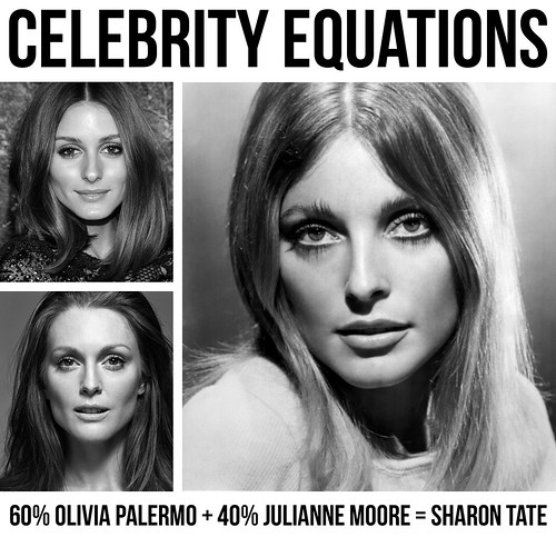 Celebrity Equations: 60% Olivia Palermo + 40% Julianne Moore = Sharon Tate