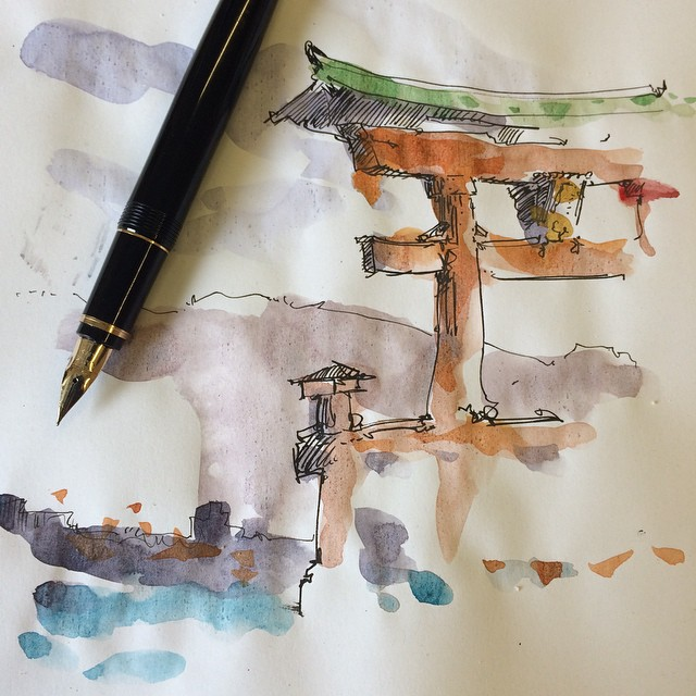 Training #namiki #watercolor