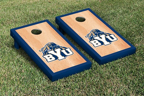 Brigham Young University BYU Cougars Cornhole Game Set Hardcourt Version