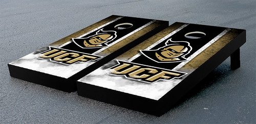 University of Central Florida UCF Knights Cornhole Game Set Vintage Wooden