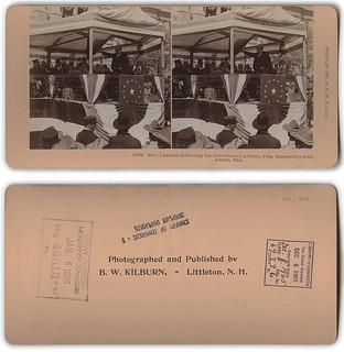 Gov. Lanham delivering the introductory address, Pres. Roosevelt's visit, Austin, Tex.