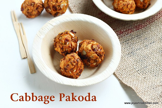 cabbage-pakoda