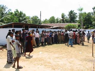 IDP camp in Sri Lanka